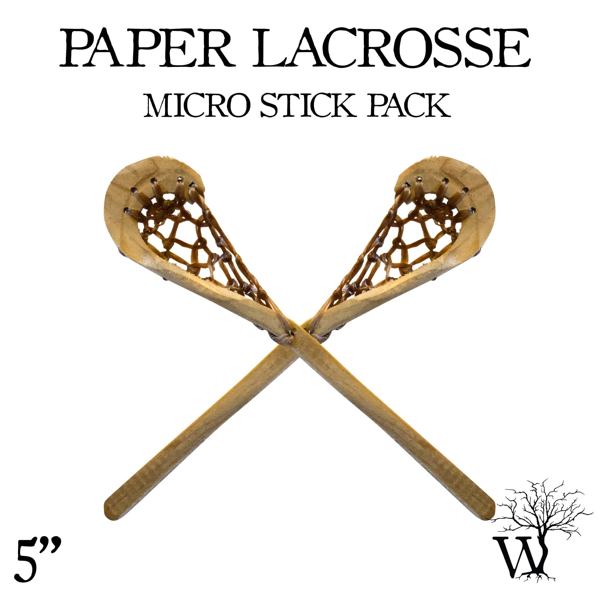 Paper Lacrosse Sticks 2 Pack