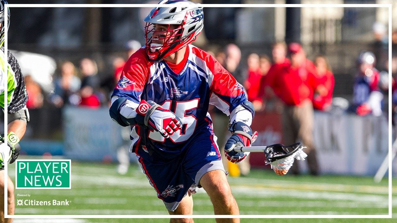 shawn evans mll boston cannons dallas rattlers
