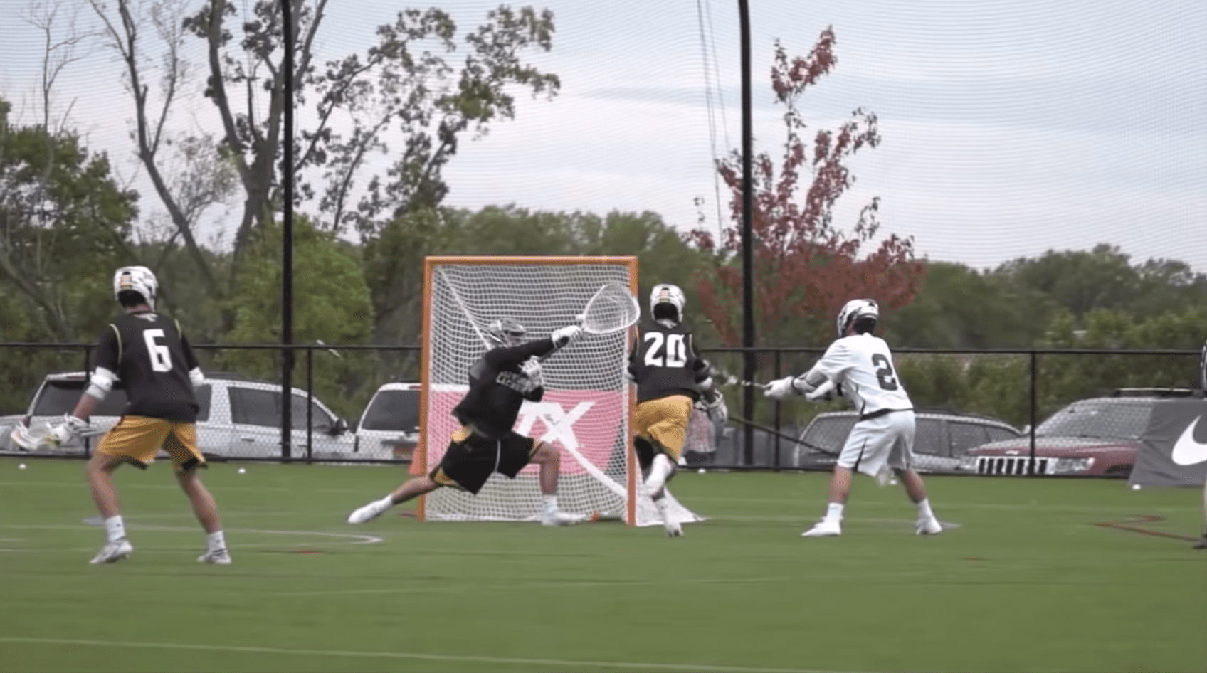lacrosse goalie save montage