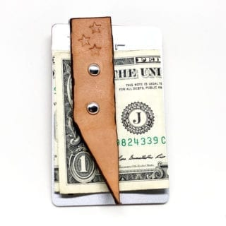 Charred Leather Money Clip