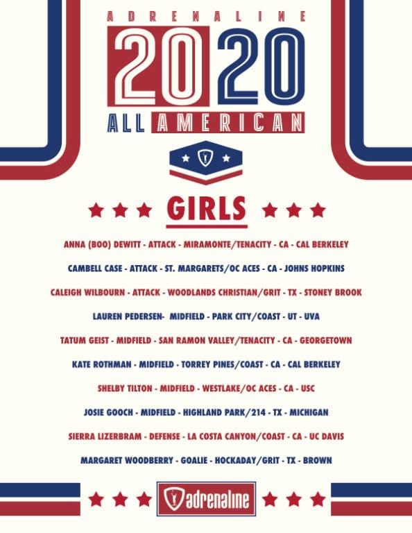 adrenaline all-american 2020