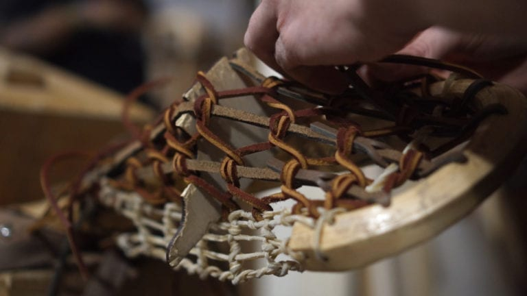 all-leather box pro justin skaggs wood lacrosse sticks