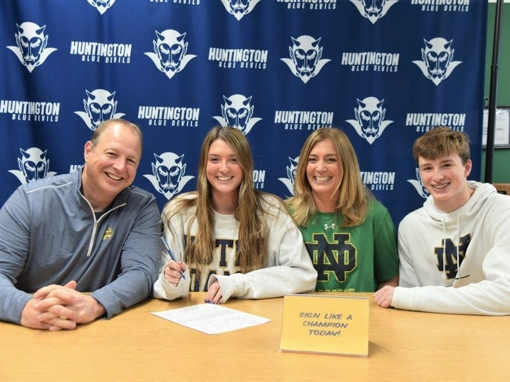 abby maichin letter of intent notre dame
