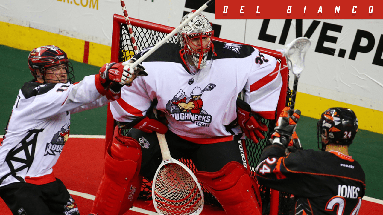 nll 2019-2020 christian del bianco calgary roughnecks nll national lacrosse league