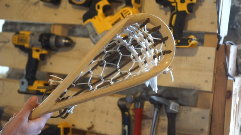 full bend wood lacrosse sticks justin skaggs