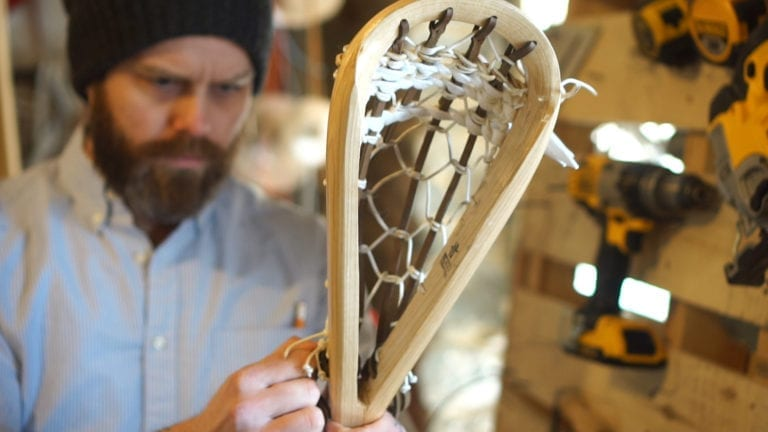 full bend wood lacrosse sticks justin skaggs