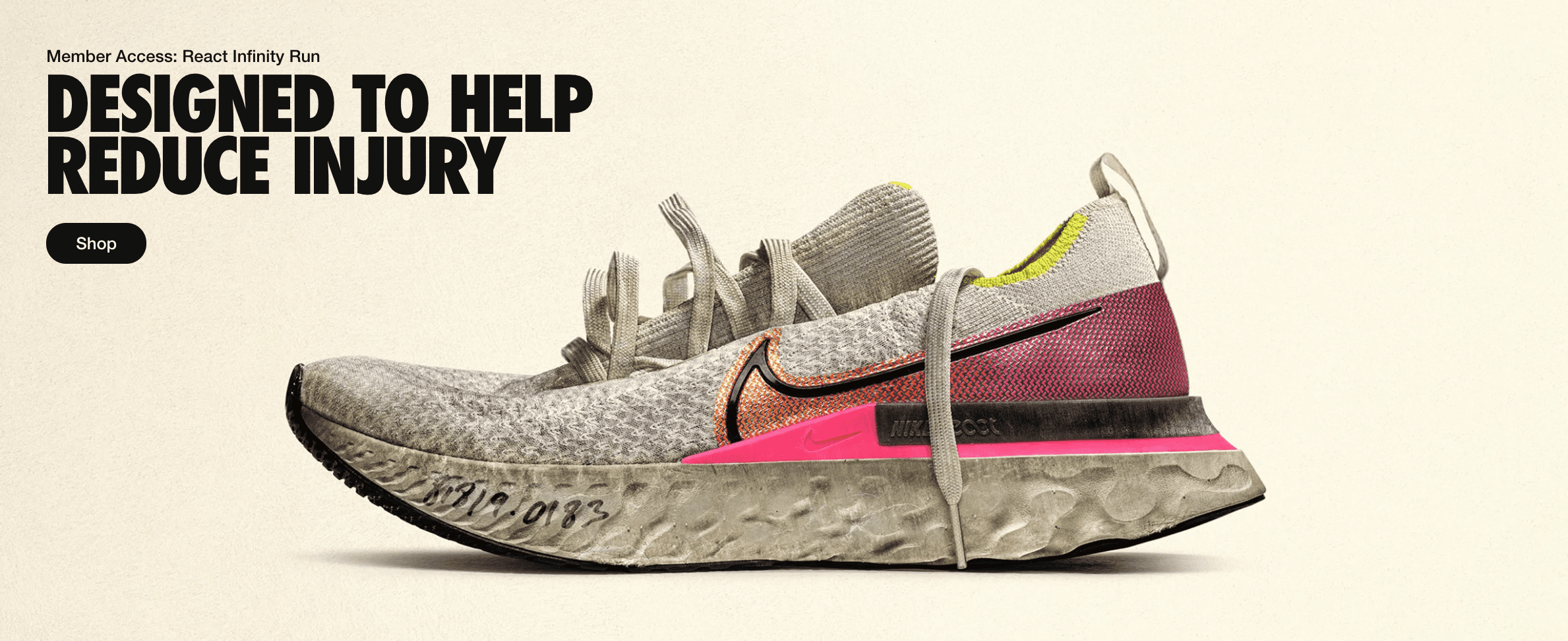 Nike product designed to help reduce injury