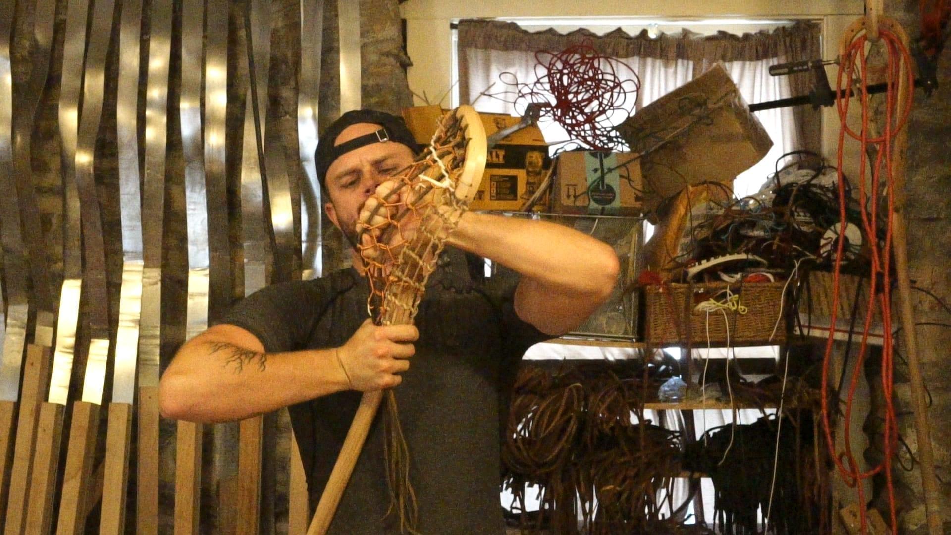 kevin corrigan's wood lacrosse stick justin skaggs notre dame mens lacrosse