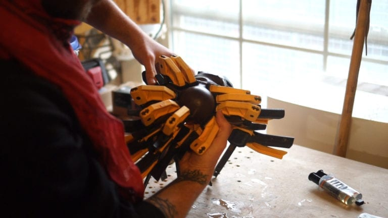 leather ball tutorial justin skaggs wood lacrosse sticks