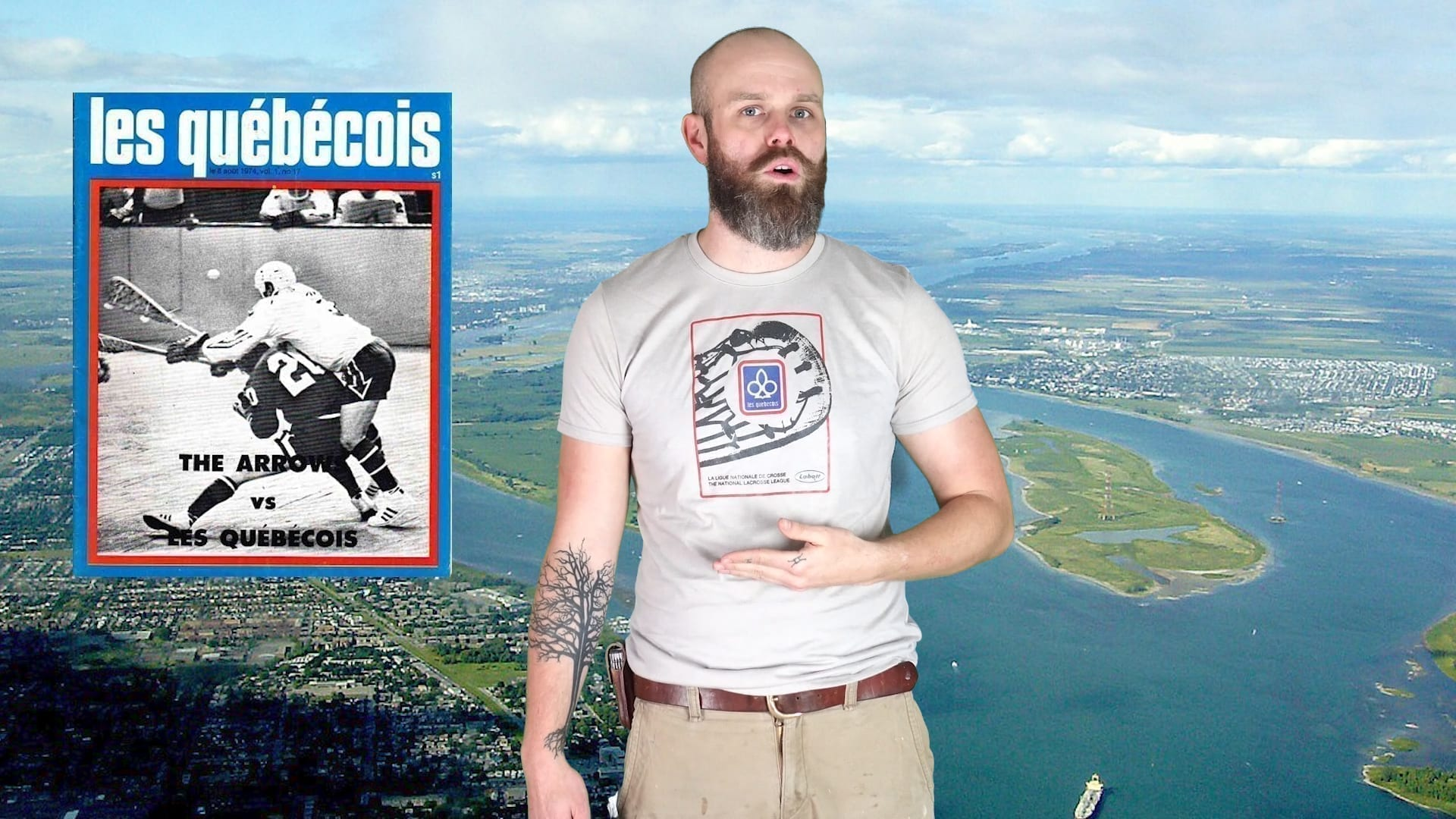 the montreal quobecois lacrosse history shirt of the month