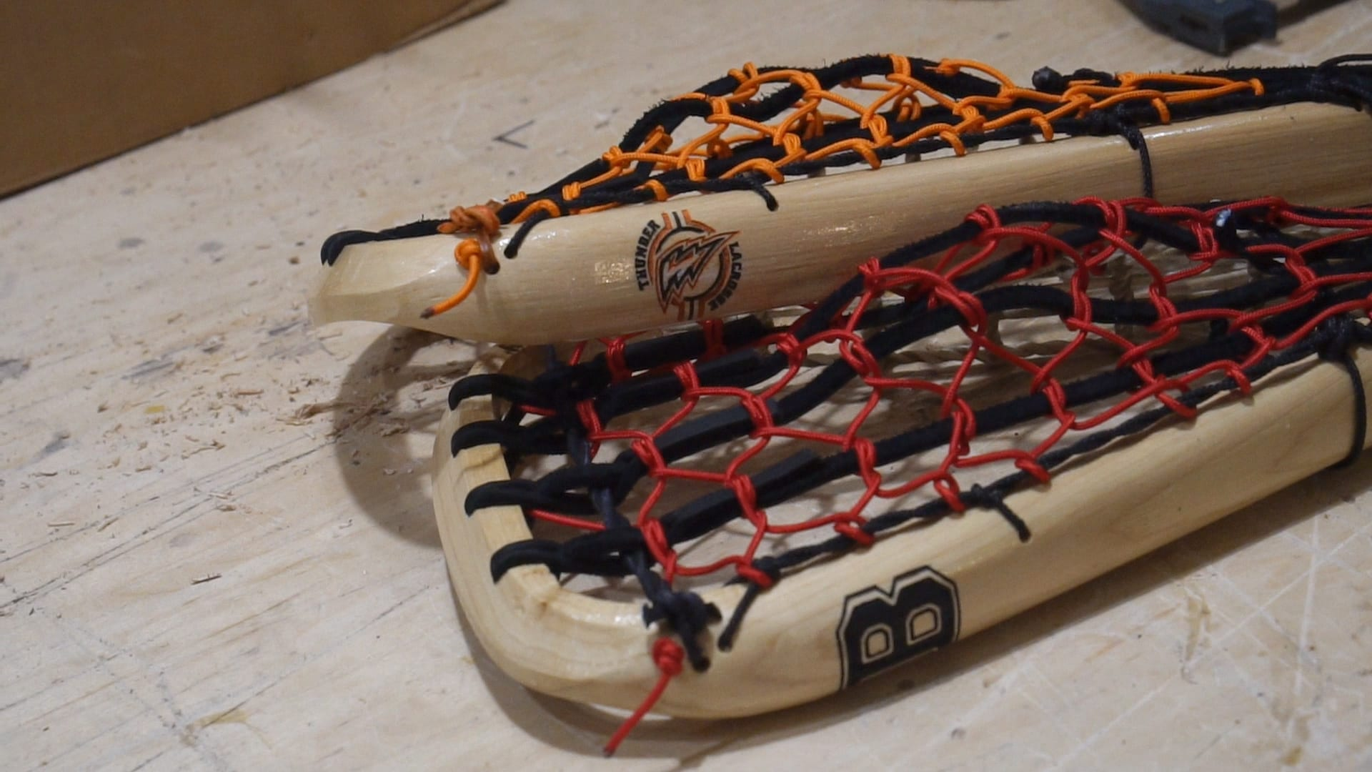 boonton lacrosse new jersey thunder wood lacrosse sticks color series justin skaggs