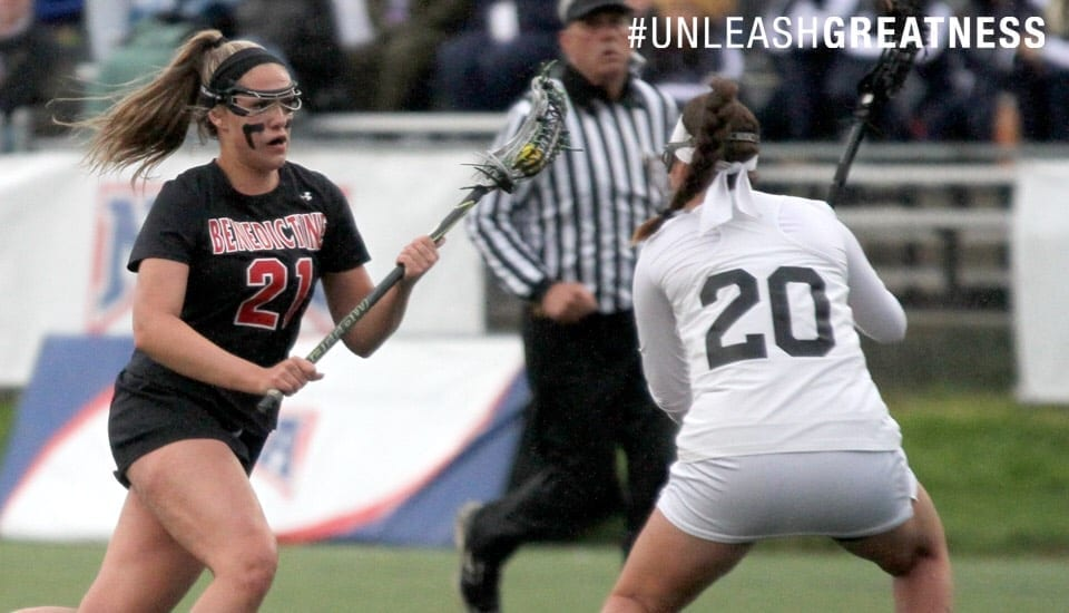 natalie wechter benedictine women's lacrosse naia lacrosse players of the week