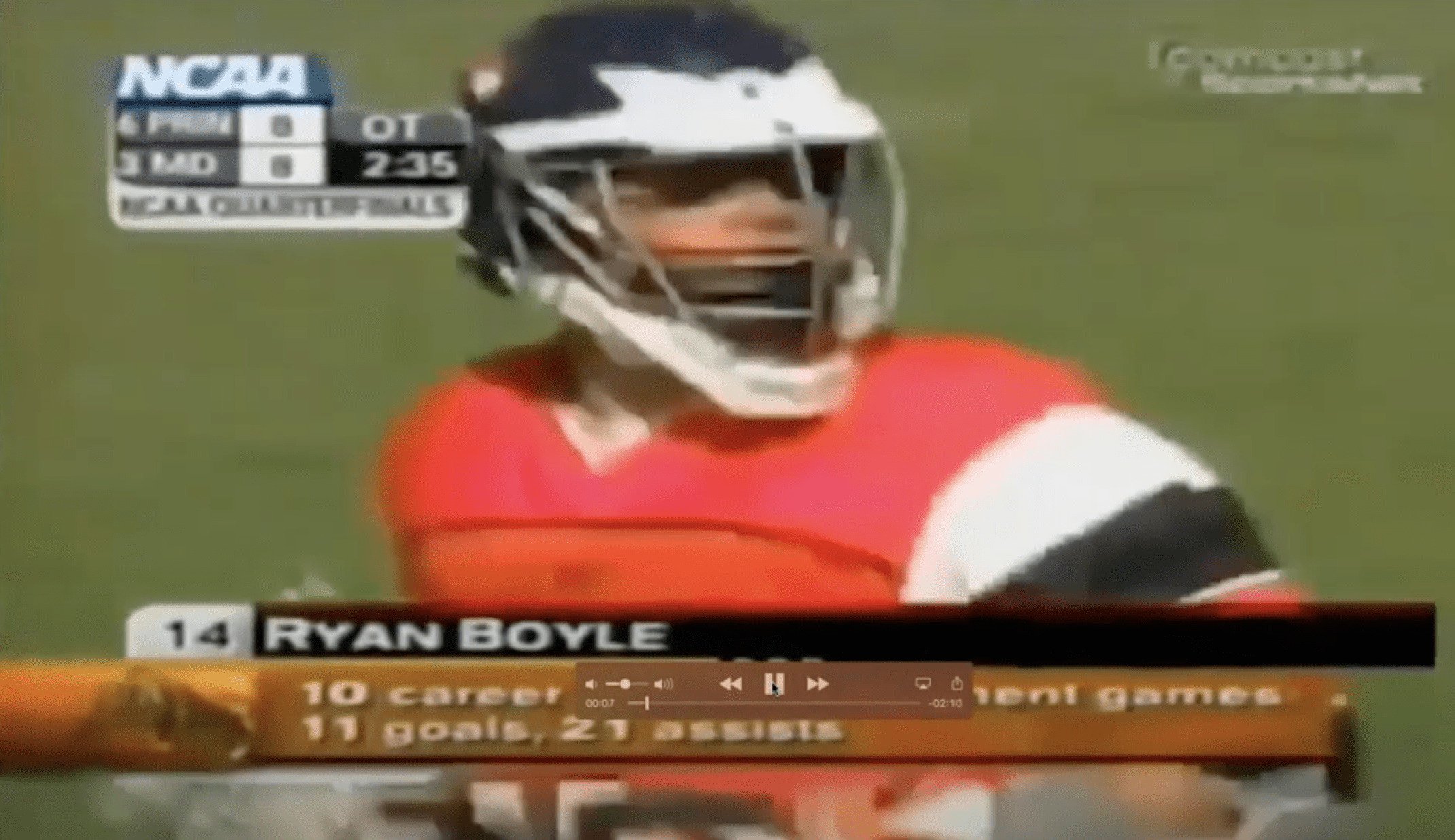 Watch Ryan Boyle's '04 NCAA Quarterfinals Highlights with Ryan Boyle!