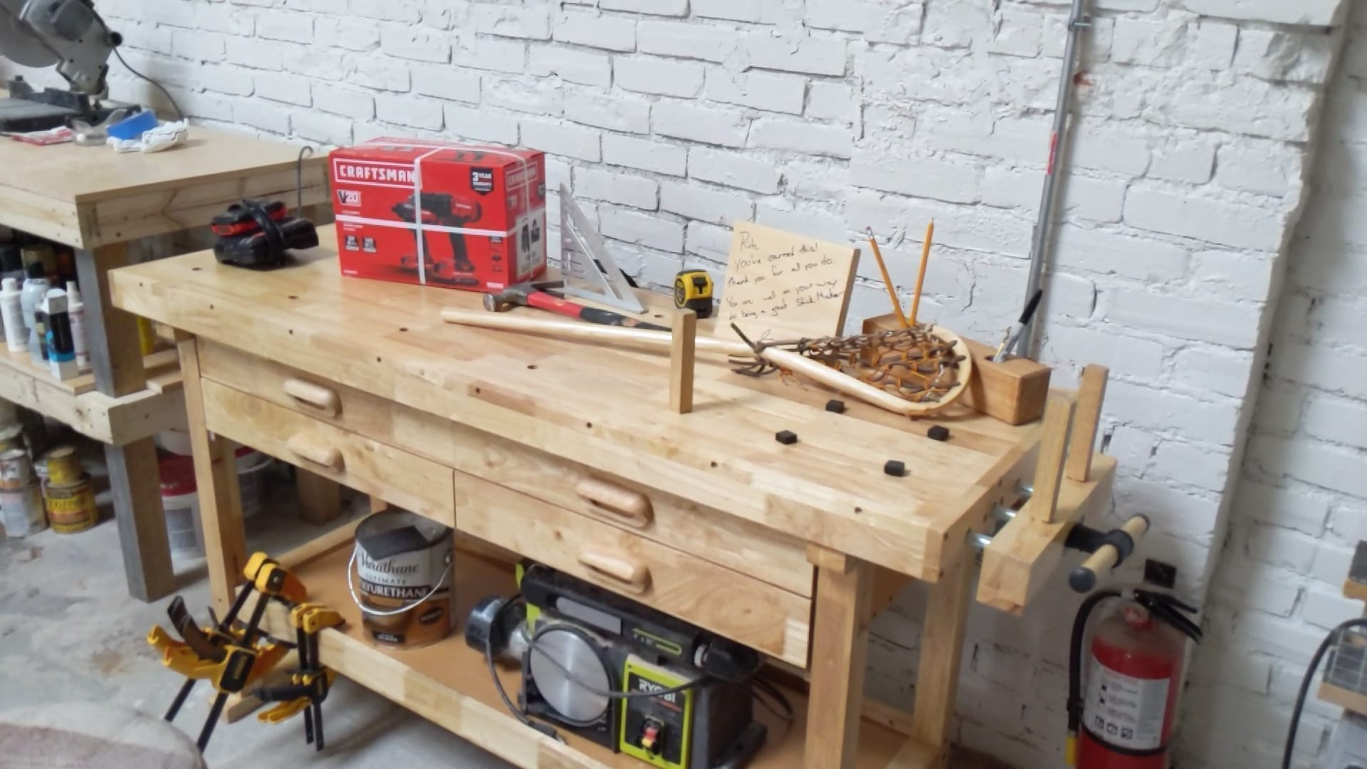 Rich Snow Get a New Work Bench for a Big Project