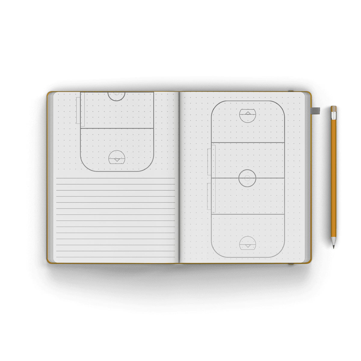 box lacrosse journal / notebook
