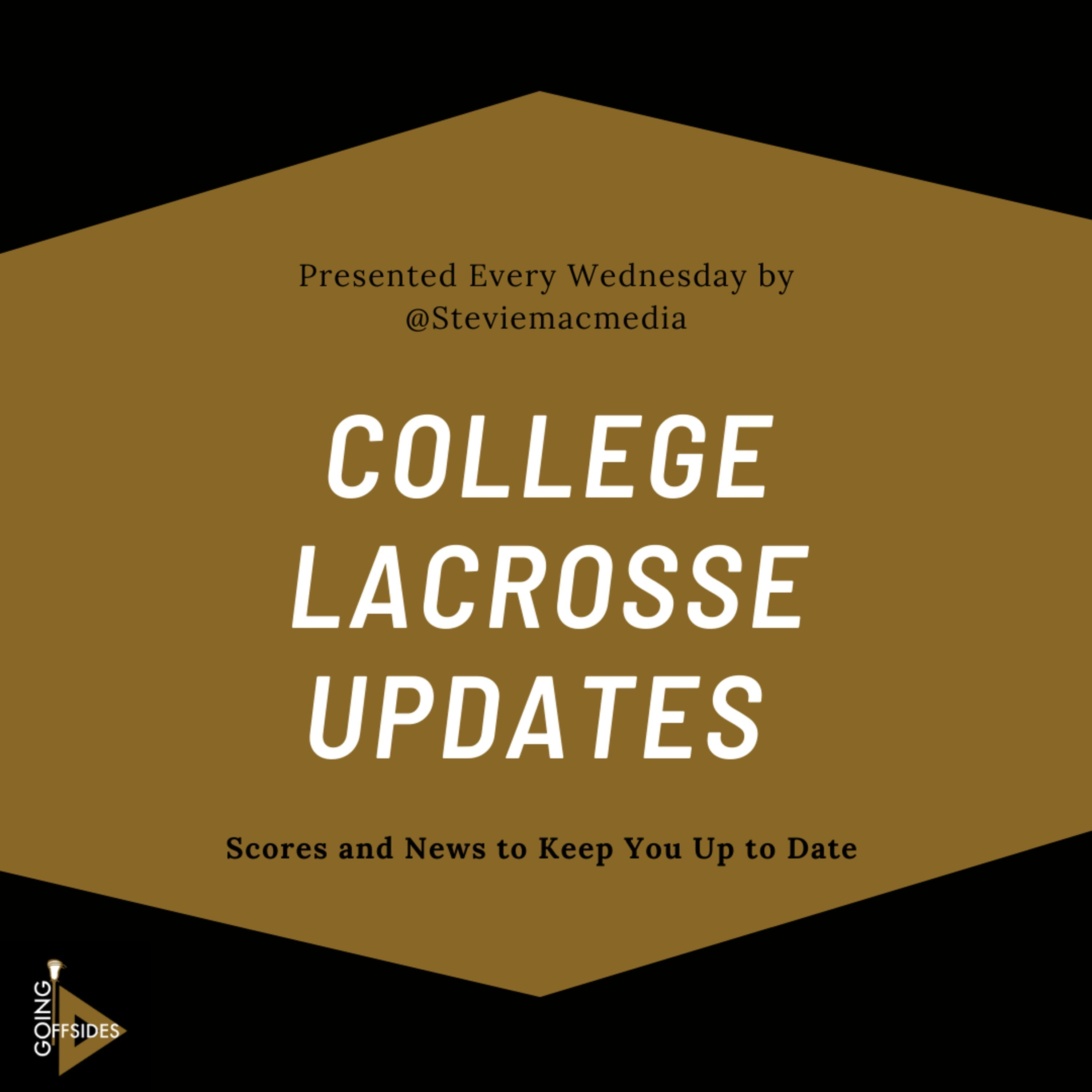 College Lacrosse Update: April 29 – May 4th Conference Tournaments