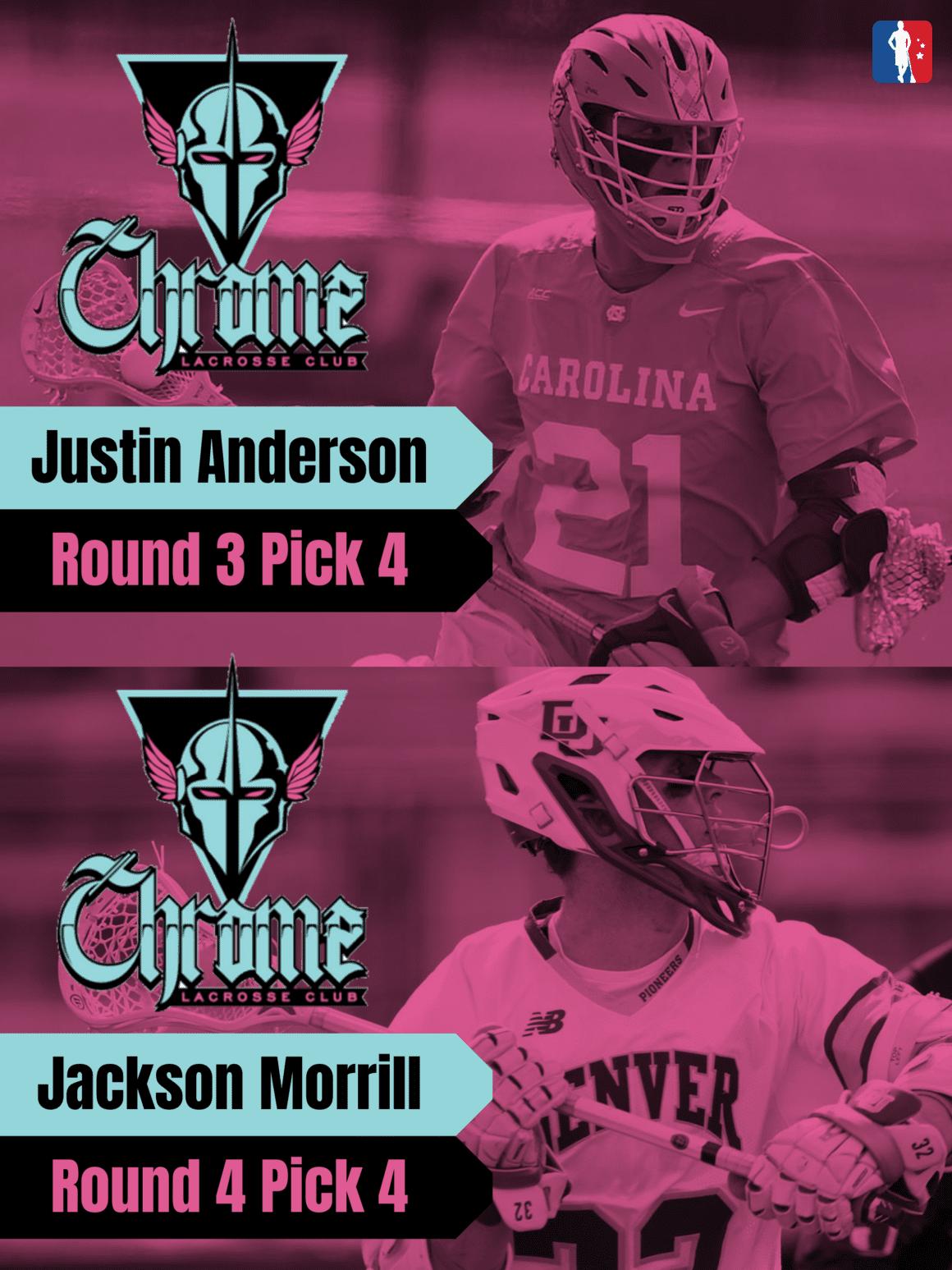 Justin Anderson Jackson Morrill PLL Rookie Spotlights