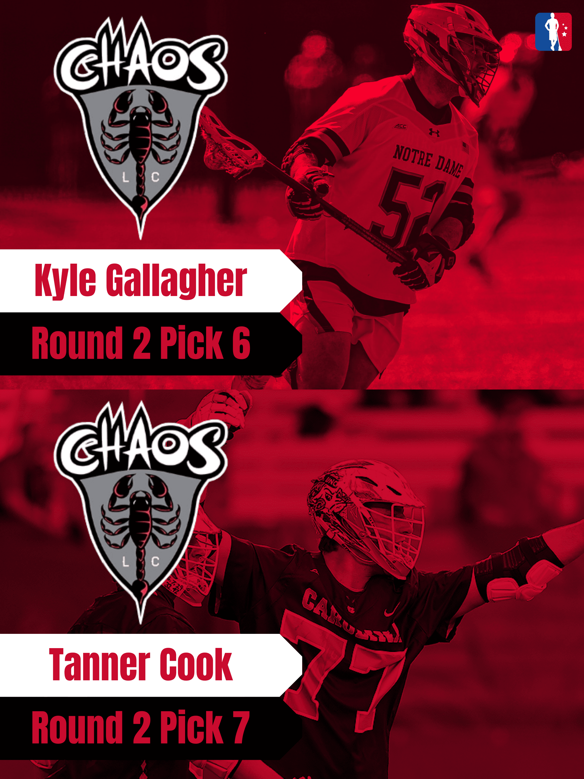 Tanner Cook Kyle Gallagher PLL Rookie Spotlights
