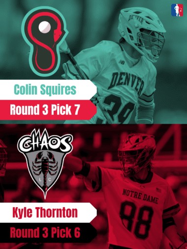 Kyle Thornton Colin Squires PLL Rookie Spotlights