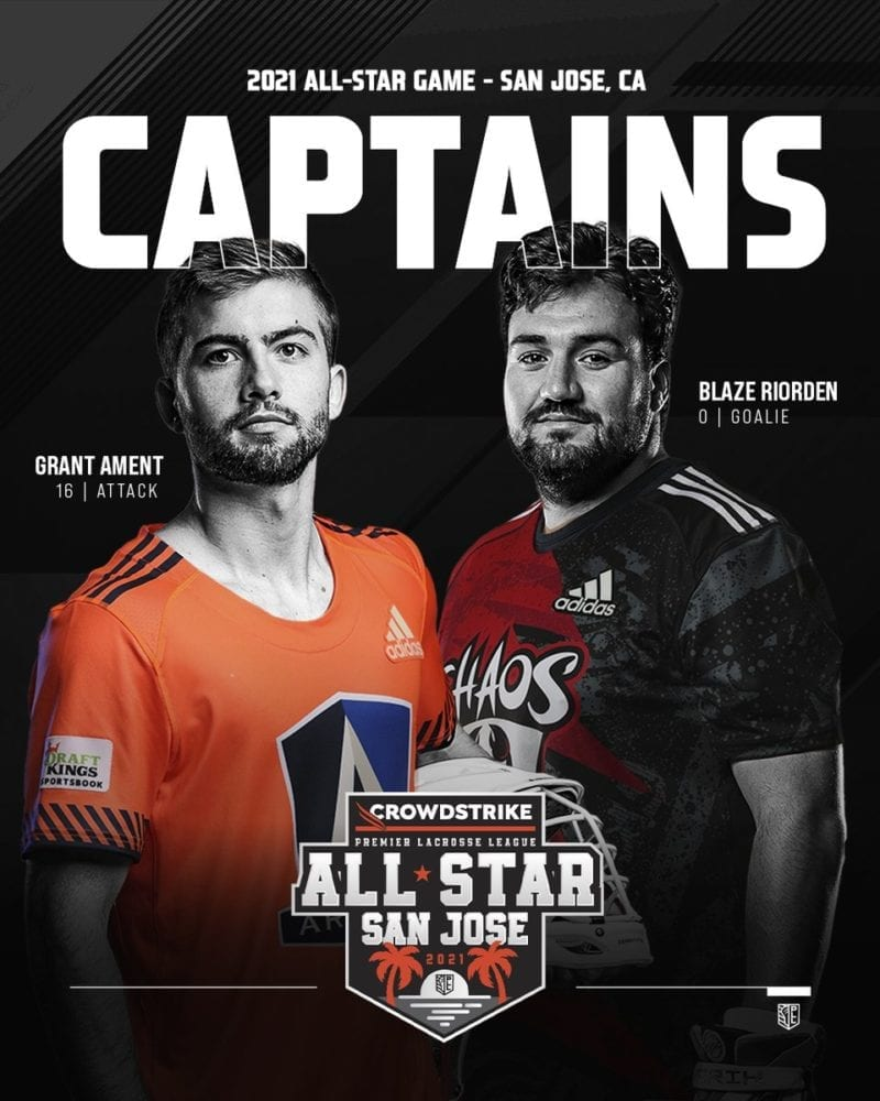 PLL All Star Rosters chosen by Captains Grant Ament, Blaze Riorden