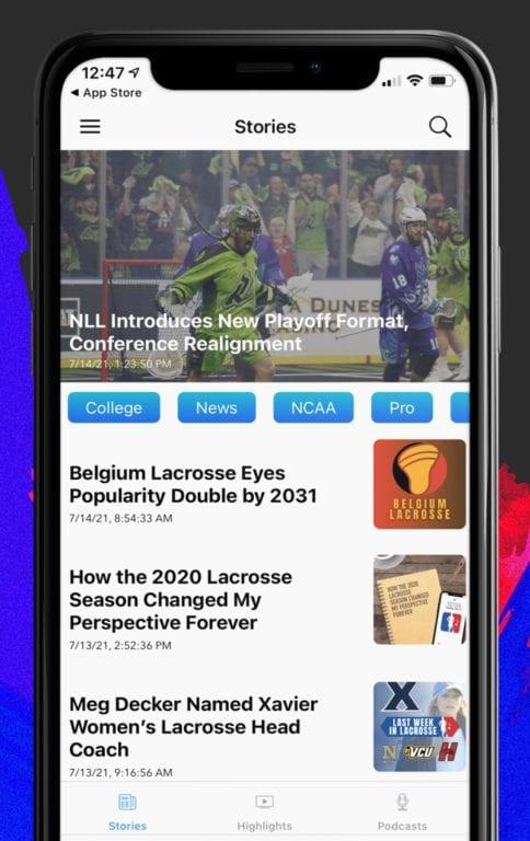 free lacrosse iphone app - new stories